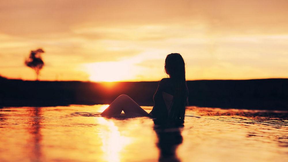人,阳光,妇女,水,轮廓,太阳,户外的女人,在户外56428