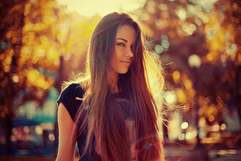 人,妇女,黑发,长发,户外的女人,阳光,Natali丹麦人51083