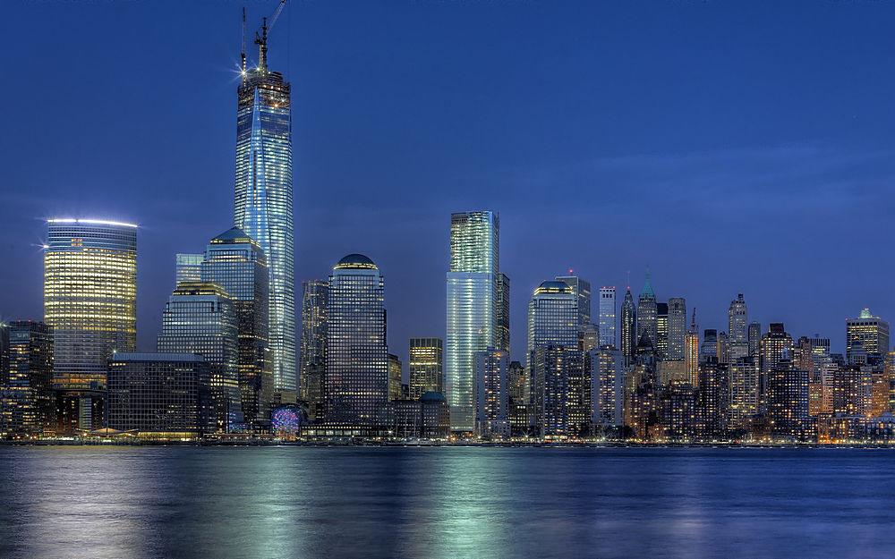 紐約世貿中心夜景
